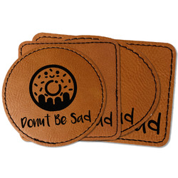 Donuts Faux Leather Iron On Patch (Personalized)