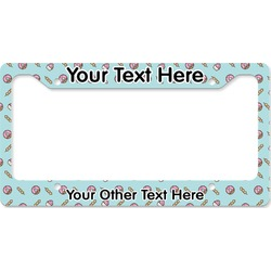 Donuts License Plate Frame (Personalized)