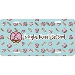 Donuts Front License Plate (Personalized)
