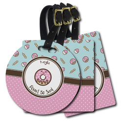 Donuts Plastic Luggage Tags (Personalized)