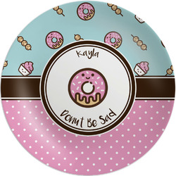 """Donuts Melamine Plate - 8"""" (Personalized)"""