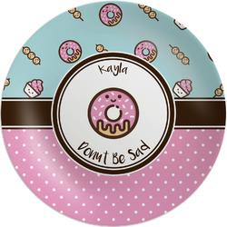 "Donuts 8"" Melamine Appetizer / Dessert Plate (Personalized)"