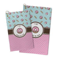 Donuts Microfiber Golf Towel (Personalized)