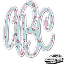 Donuts Monogram Car Decal (Personalized)