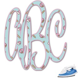 Donuts Monogram Iron On Transfer (Personalized)