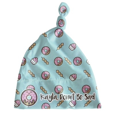 Donuts Newborn Hat - Knotted (Personalized)