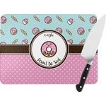 Donuts Rectangular Glass Cutting Board (Personalized)