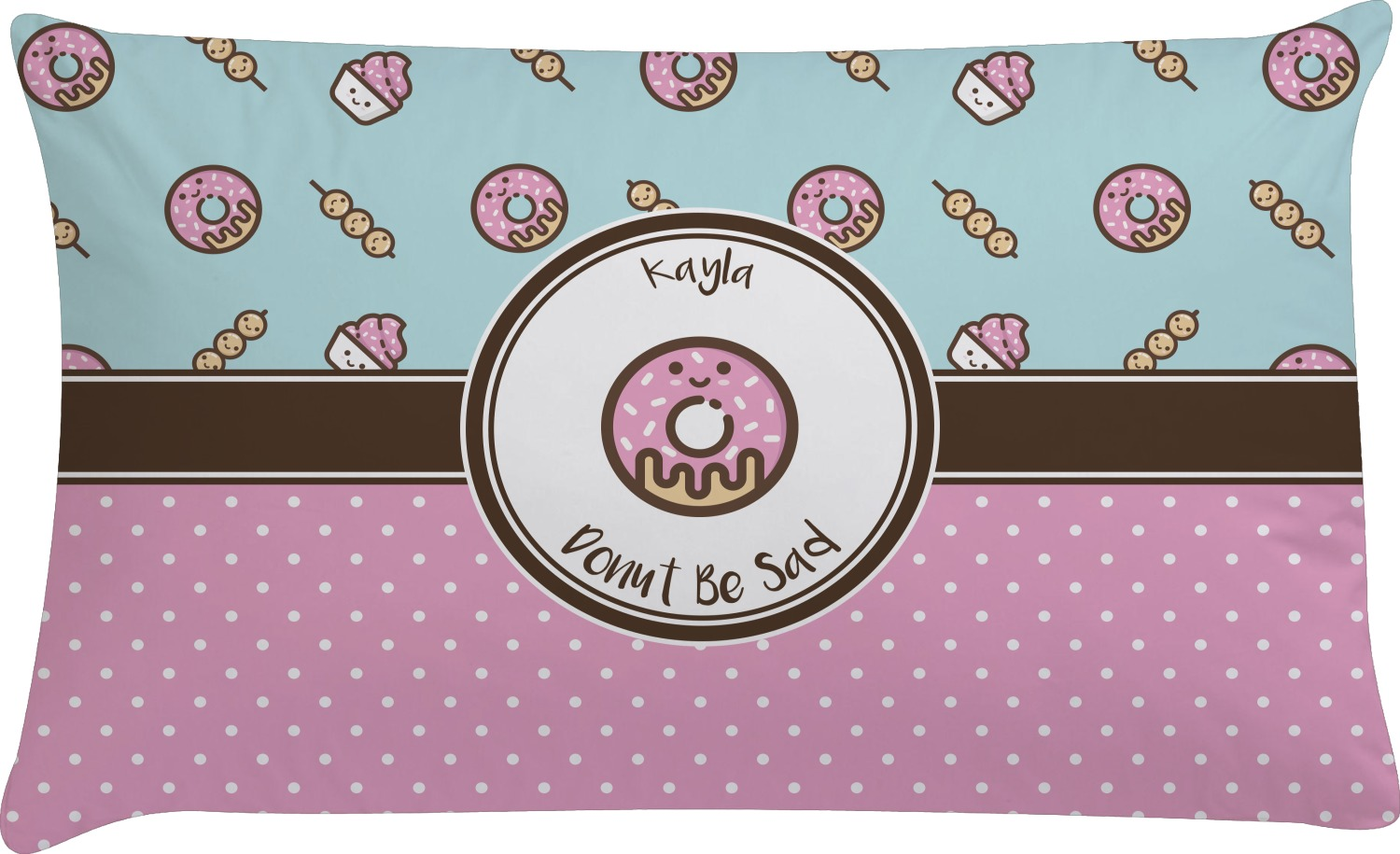 Custom Throw Pillow Cases : Donuts Pillow Case - King (Personalized) - YouCustomizeIt