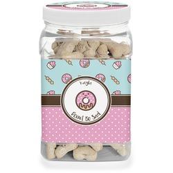 Donuts Dog Treat Jar (Personalized)