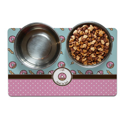 Donuts Dog Food Mat (Personalized)