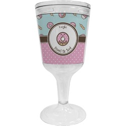 Donuts Wine Tumbler - 11 oz Plastic (Personalized)