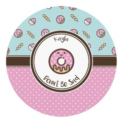 Donuts Round Decal - Small (Personalized)