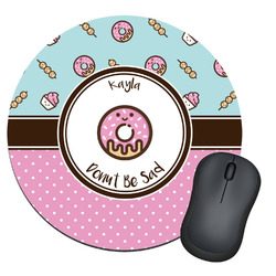 Donuts Round Mouse Pad (Personalized)