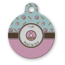 Donuts Round Pet ID Tag (Personalized)