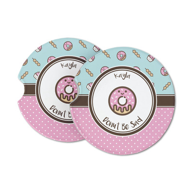 Donuts Sandstone Car Coasters (Personalized)