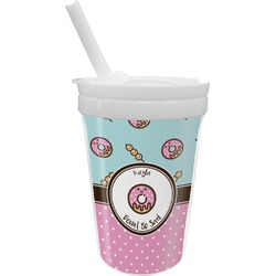 Donuts Sippy Cup with Straw (Personalized)