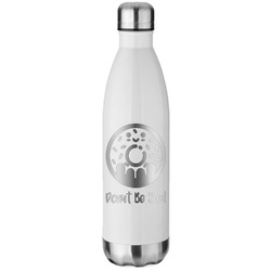 Donuts White Water Bottle - 26 oz. Stainless Steel (Personalized)