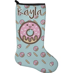 Donuts Christmas Stocking - Single-Sided - Neoprene (Personalized)