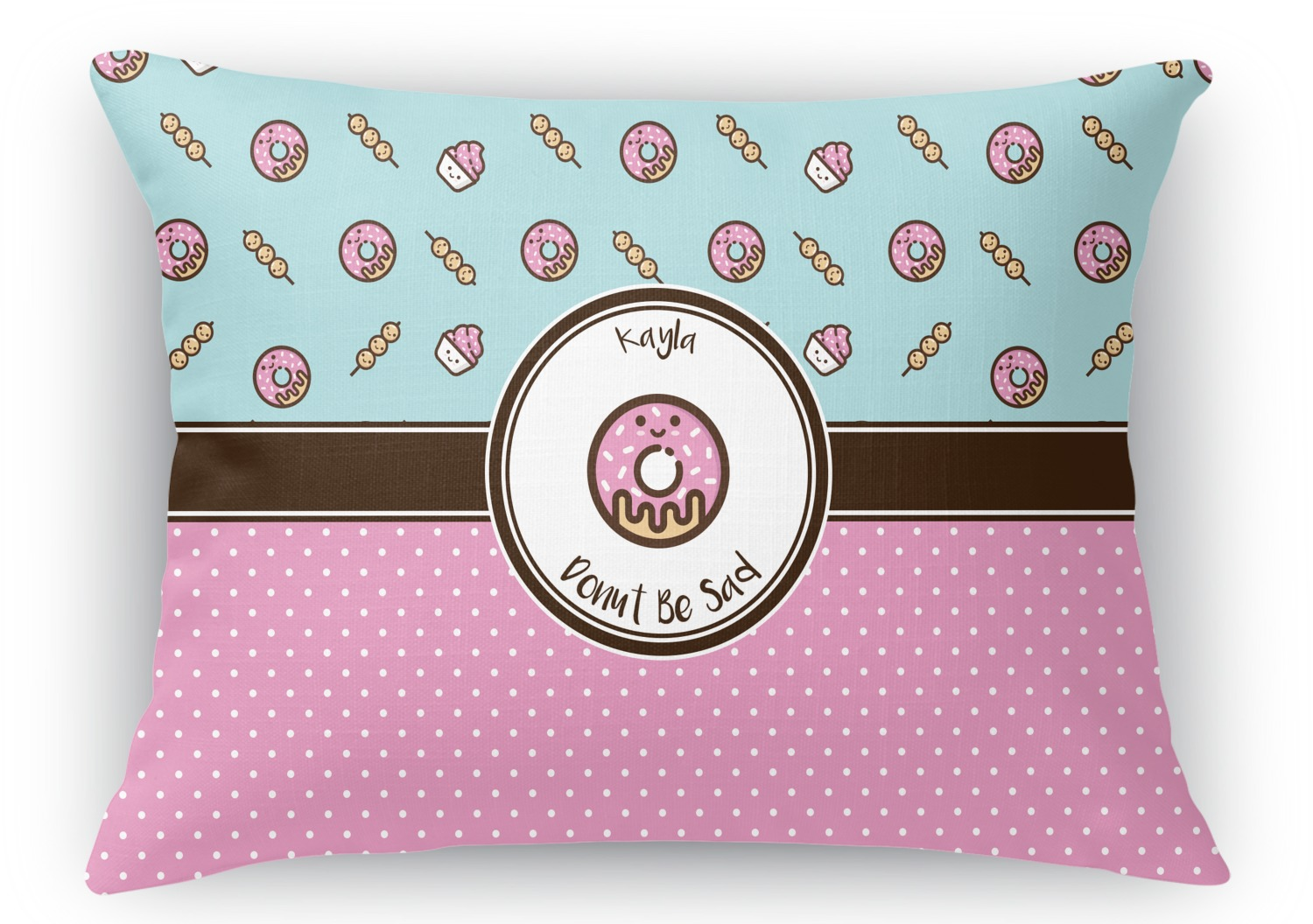 Rectangular Throw Pillow Dimensions : Donuts Rectangular Throw Pillow - 18