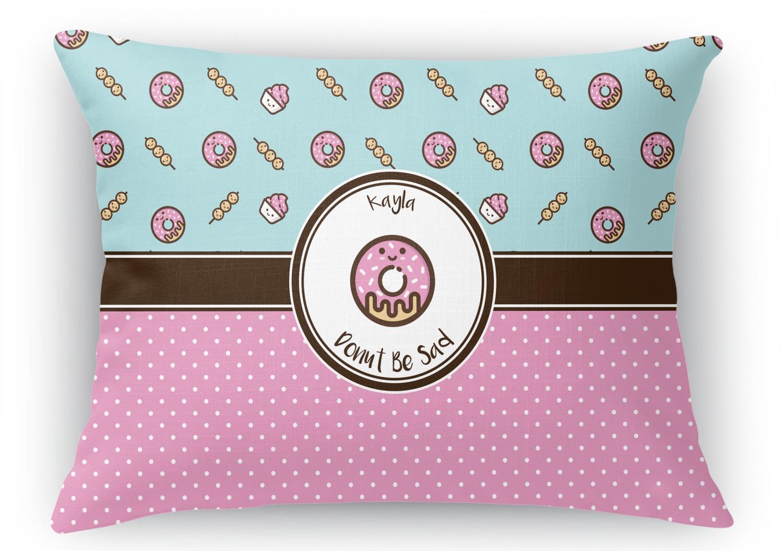 Donuts Rectangular Throw Pillow - 18