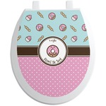 Donuts Toilet Seat Decal (Personalized)