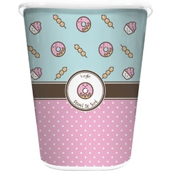 Donuts Waste Basket - Double Sided (White) (Personalized)