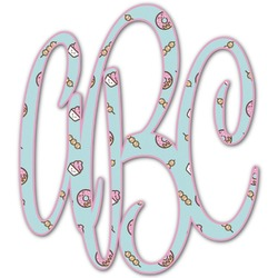 Donuts Monogram Decal - Small (Personalized)