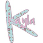 Donuts Name & Initial Decal - Custom Sized (Personalized)