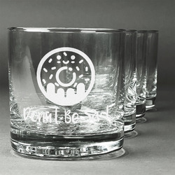 Donuts Whiskey Glasses (Set of 4) (Personalized)