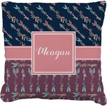 Tribal Arrows Faux-Linen Throw Pillow (Personalized)
