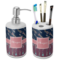 Tribal Arrows Bathroom Accessories Set (Ceramic) (Personalized)