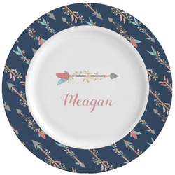 Tribal Arrows Ceramic Dinner Plates (Set of 4) (Personalized)