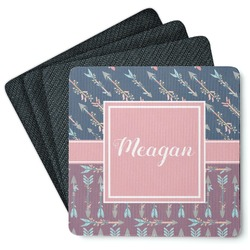 Tribal Arrows 4 Square Coasters - Rubber Backed (Personalized)