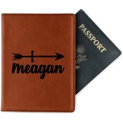 Tribal Arrows Leatherette Passport Holder (Personalized)
