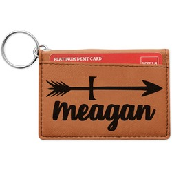Tribal Arrows Leatherette Keychain ID Holder (Personalized)