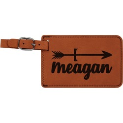 Tribal Arrows Leatherette Luggage Tag (Personalized)