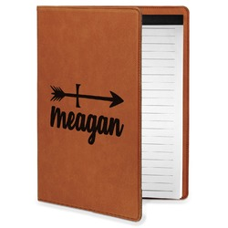 Tribal Arrows Leatherette Portfolio with Notepad - Small - Single Sided (Personalized)