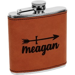 Tribal Arrows Leatherette Wrapped Stainless Steel Flask (Personalized)