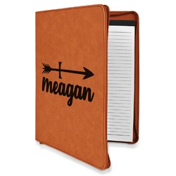 Tribal Arrows Leatherette Zipper Portfolio with Notepad (Personalized)
