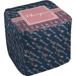 Tribal Arrows Cube Pouf Ottoman (Personalized)