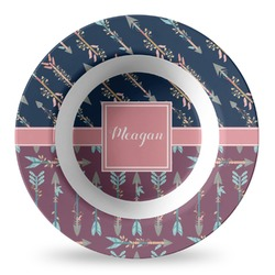 Tribal Arrows Plastic Bowl - Microwave Safe - Composite Polymer (Personalized)