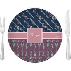 """Tribal Arrows 10"""" Glass Lunch / Dinner Plates - Single or Set (Personalized)"""