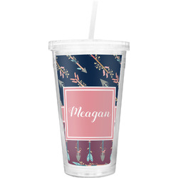 Tribal Arrows Double Wall Tumbler with Straw (Personalized)
