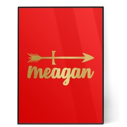 Tribal Arrows 5x7 Red Foil Print (Personalized)