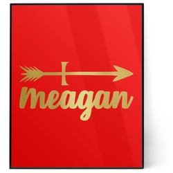 Tribal Arrows 8x10 Foil Wall Art - Red (Personalized)