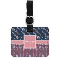 Tribal Arrows Genuine Leather Rectangular  Luggage Tag (Personalized)
