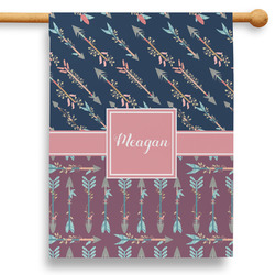 """Tribal Arrows 28"""" House Flag - Double Sided (Personalized)"""