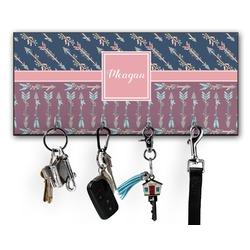 Tribal Arrows Key Hanger w/ 4 Hooks (Personalized)