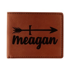 Tribal Arrows Leatherette Bifold Wallet (Personalized)