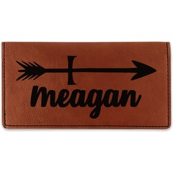Tribal Arrows Leatherette Checkbook Holder (Personalized)